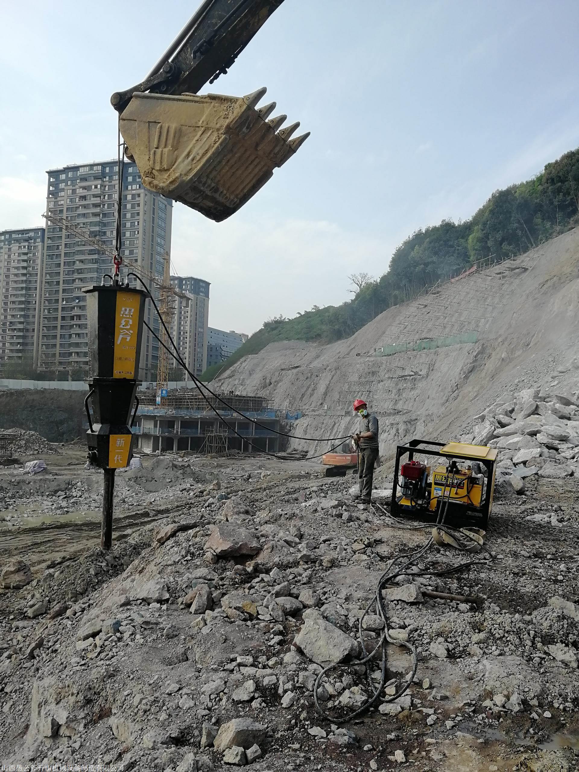 快速撑裂岩石机器采石机安全可靠保定