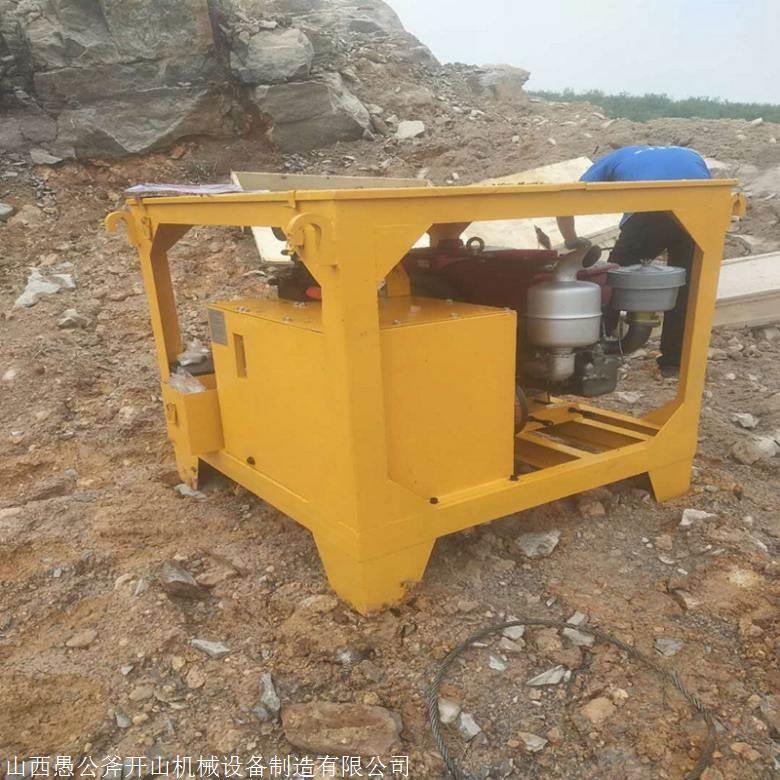 重庆渝北深基坑开挖岩石破裂器
