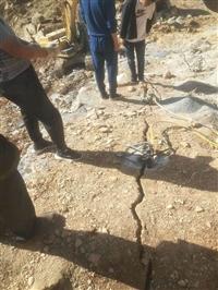 广西凭祥拆除坚硬岩石大型分裂机