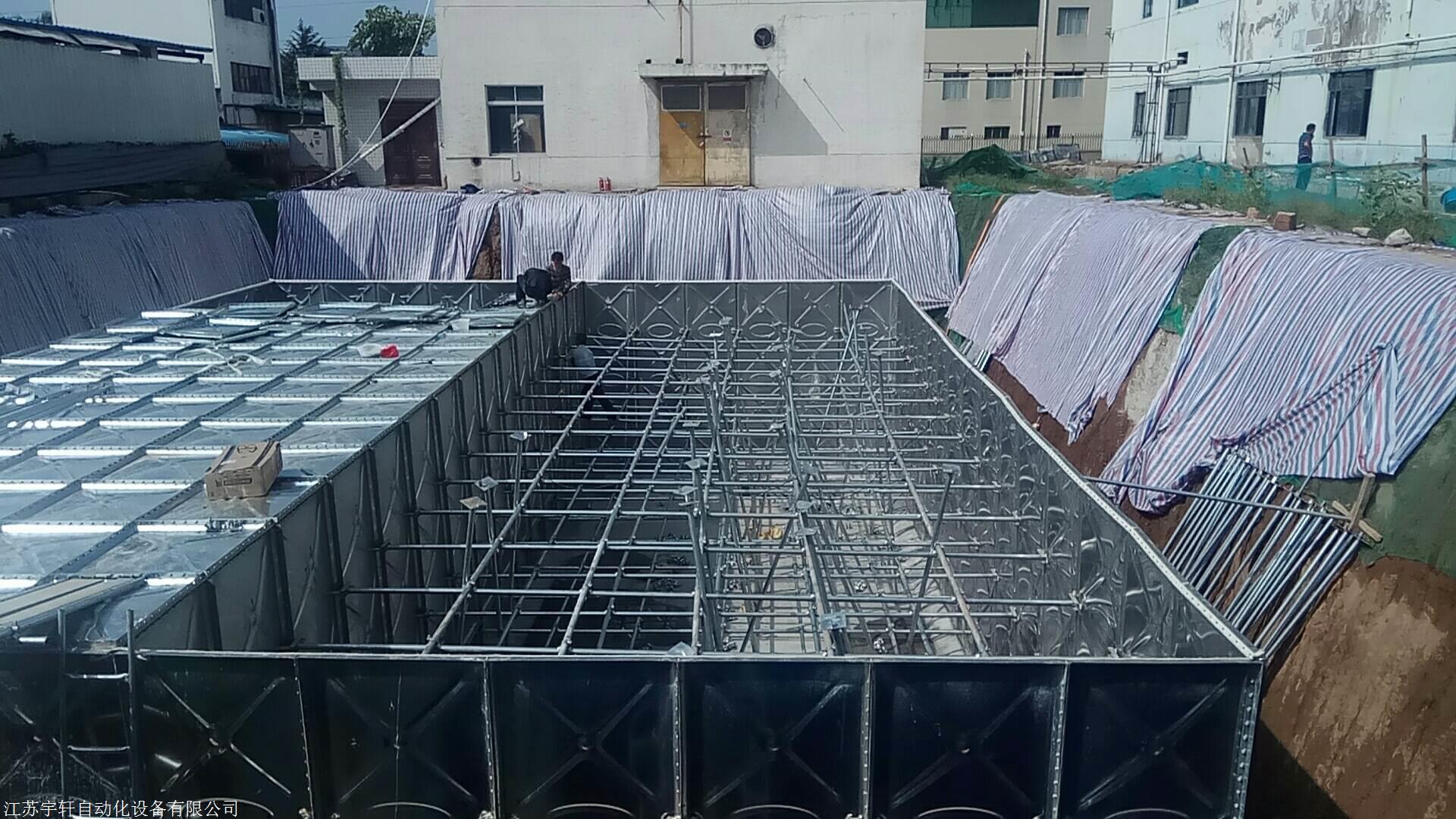 山東定制批發消防箱泵一體化 抗浮地埋消防水池各種規格