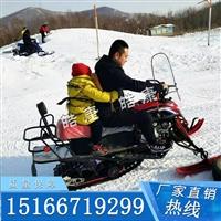雙人雪地摩托車 冰天雪地里奔跑 小型雪地摩托車