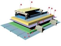 全國各地加油站屋面翻新0.9mm65-430型直立鎖邊鋁鎂錳板