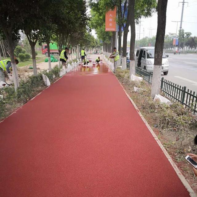 环保城市绿道彩色路面价格