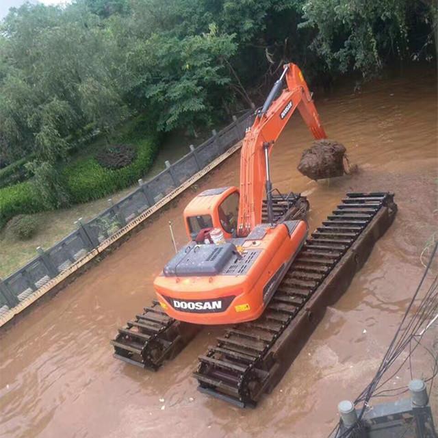 全新水陆挖掘机租赁经销商 水上挖机租赁
