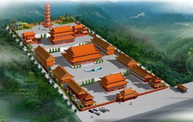 寺庙规划布局平面图