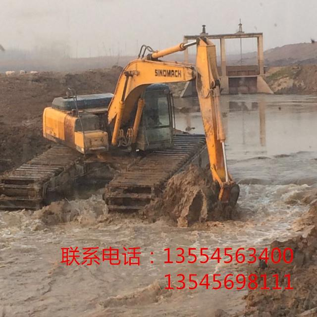 长春水上挖机租赁