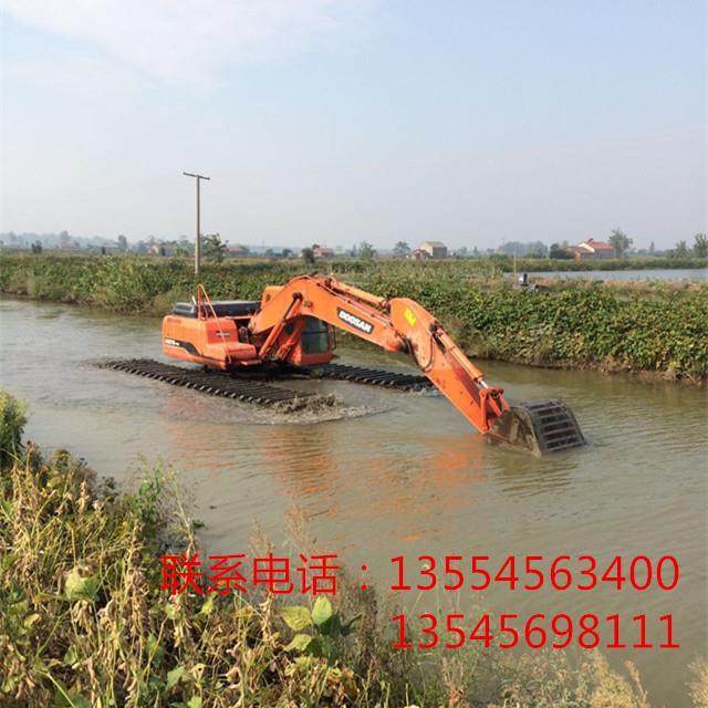 本溪水上挖机租赁