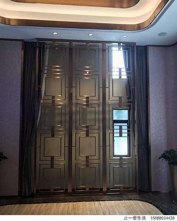酒店不锈钢屏风,镂空不锈钢屏风,不锈钢隔断,欧式不锈钢花格,餐厅中式