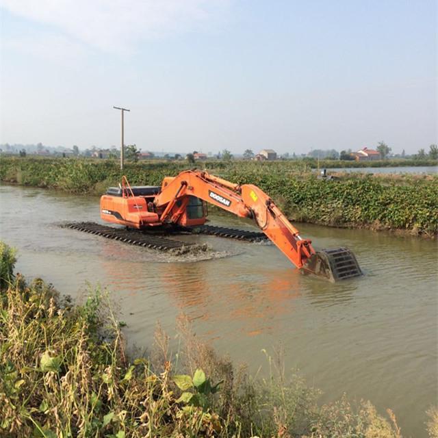 新余水陆两用挖机出租哪家专业