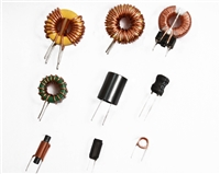 立式线圈电感KS068125A-1MH带底板磁环电感 插件电感
